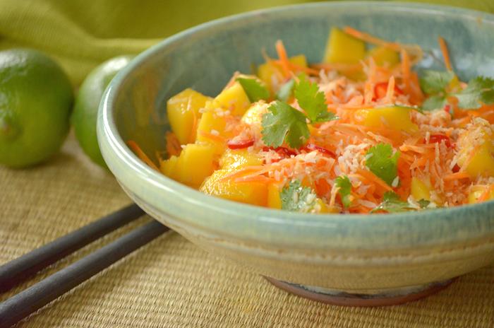 Salat karotte mango