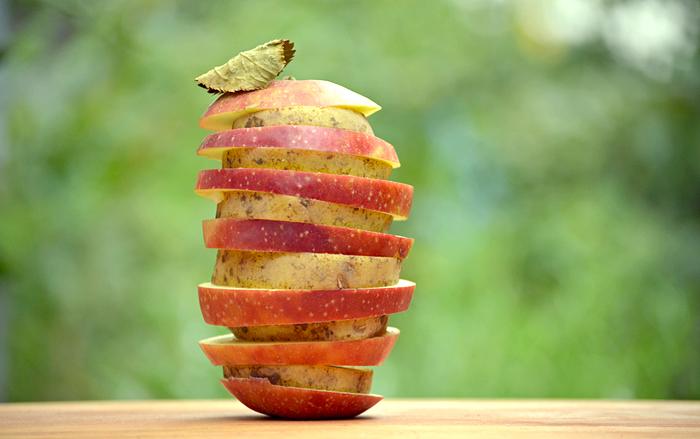 Katoffel und Apfel